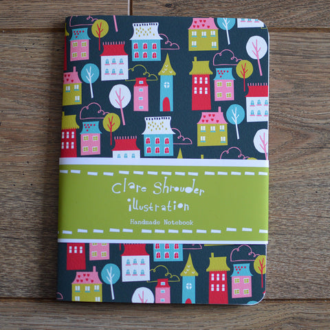 Handmade Houses Notebook by Claire Shrouder