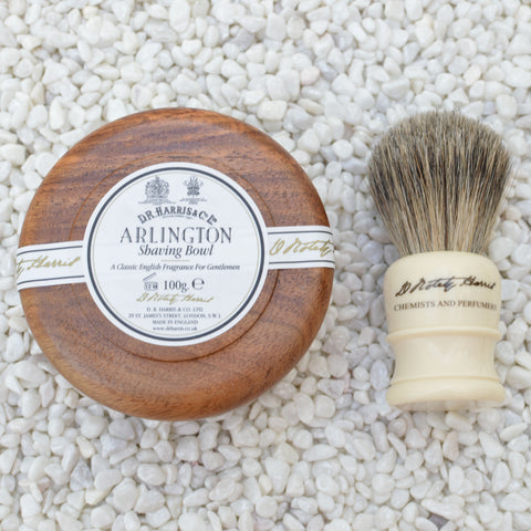 Mahogany Shaving Gift Set by D R Harris