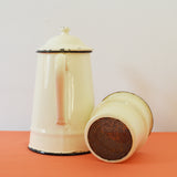 Vintage French Enamel Coffee Pot with separate filter on Oates & Co.
