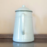 Vintage Enamel Coffee Pot from France in Mint Green on Oates & Co.