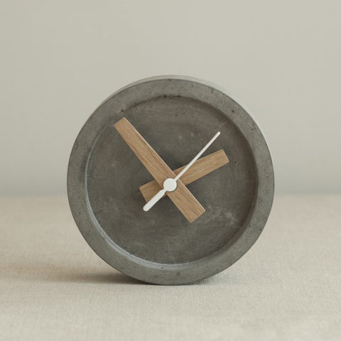 Small Concrete Table or Wall Clock by Wild + Wood