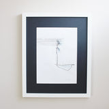 Framed original drawing by Hayley Sutcliffe in Neutral Colours on Oates & Co.
