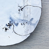 Neutral colour decorative enamel plate made in the UK by Hayley Sutcliffe on Oates & Co.