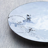 Hand crafted enamel small plate for decorative use by Hayley Sutcliffe on Oates & Co.
