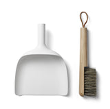 White Dustpan and Brush Scandinavian Designed by Norm Architects for Menu on Oates & Co.