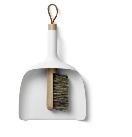 Dustpan and Brush Sweeper by Menu in White