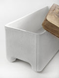 Serax Big Storage Box in White Concrete with Wooden Lid on Oates & Co.