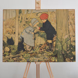Vintage children's woodland walk print on Oates & Co.