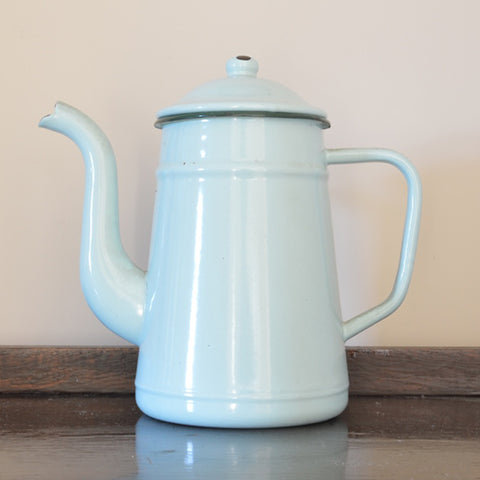 Vintage French Enamel Coffee Pot