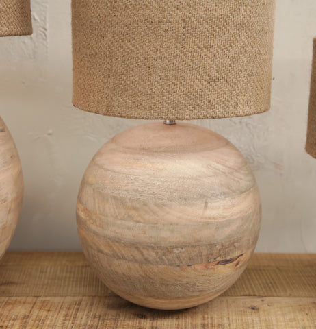 Small Ko Mango Wood Lamp by Nkuku
