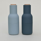 Blue Salt and Pepper Grinders Designed by Norm Architects by Menu on Oates & Co.