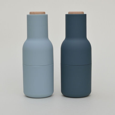 Menu Bottle Grinders for Salt & Pepper in Blues