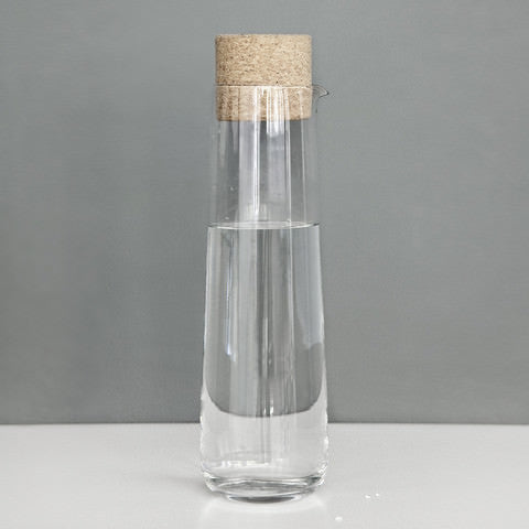 Glass Carafe with Cork Lid by Menu