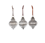 Nkuku Mercury Silver Baubles Christmas Decorations on Oates & Co.