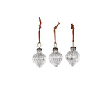 Nkuku Christmas Decorations Mercury Silver Baubles on Oates & Co.