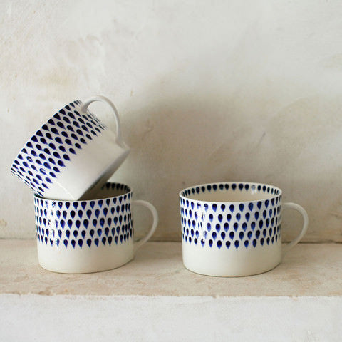 Indigo Drop Ceramic Mug