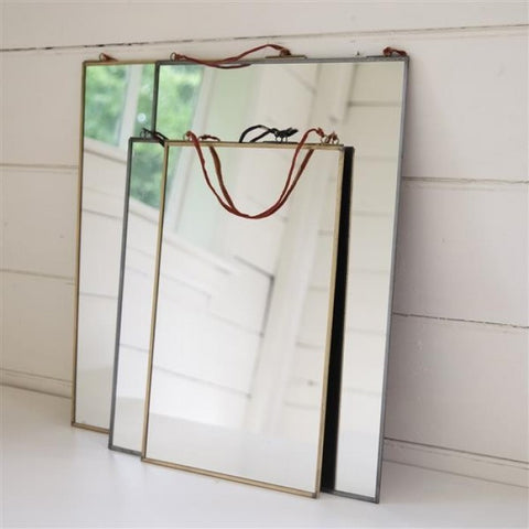 Medium Kiko Antique Zinc Mirror