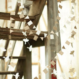 Off white paper bird bunting for Christmas or birthday on Oates & Co.