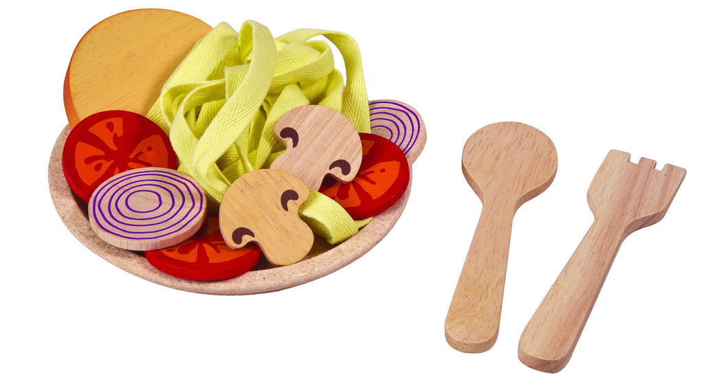 Wooden Spaghetti Set for pretend play for 2 years and up by Plan Toys on Oates & Co.
