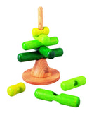 Stacking wooden tree puzzle by Plan Toys at Oates & Co.