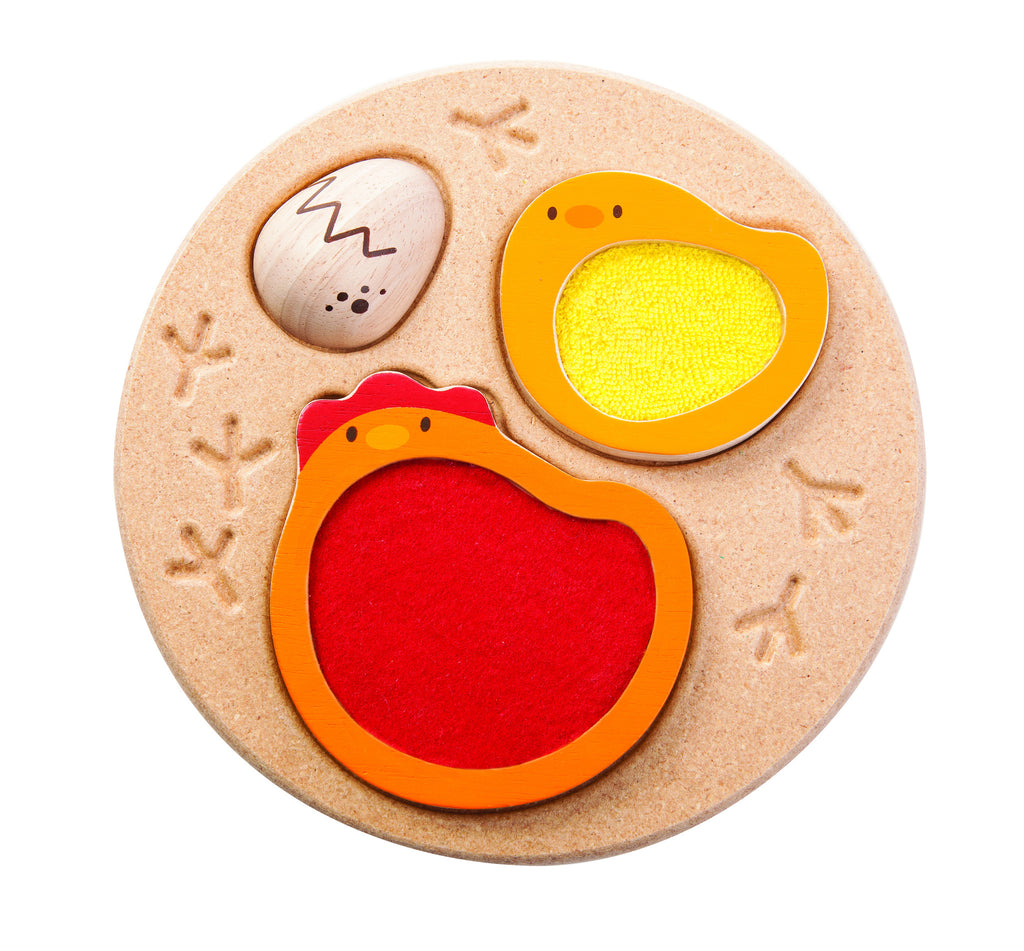 Wooden Chicken Jigsaw Puzzle for ages 12 months and up by Plan Toys on Oates & Co.
