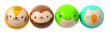 Wooden croquet balls with animal faces by Plan Toys at Oates & Co.