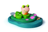 Wooden frog stacking puzzle for ages 2 years plus made in sustainable materials by Plan Toys on Oates & Co.