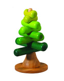 Wooden stacking puzzle tree by Plan Toys at Oates & Co.