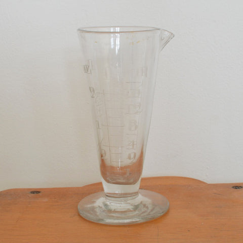 Vintage French Small Glass Cook's Measure