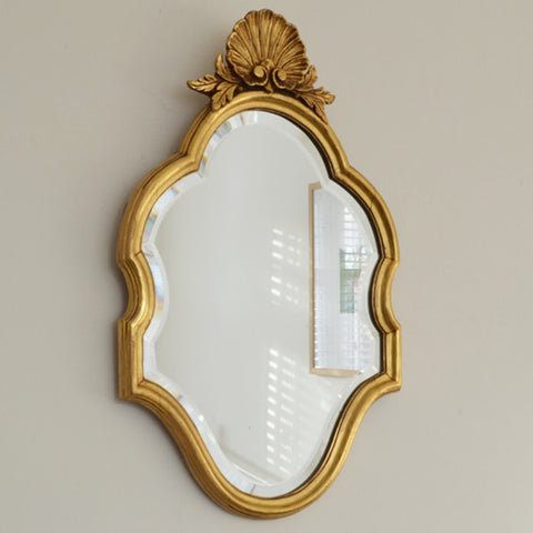 Small Gold Baroque Style French Vintage Mirror