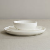 Low white bone china cereal or soup bowl by Sue Pryke on Oates & Co.