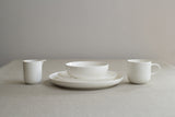 Sue Pryke simple everyday white bone china cereal or soup bowl on Oates & Co.