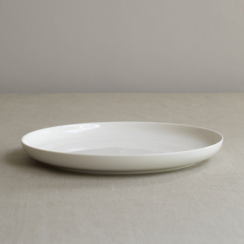 Simple White Bone China Dinner Plate by Sue Pryke