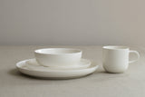 White bone china low cereal or soup bowl by Sue Pryke on Oates & Co.