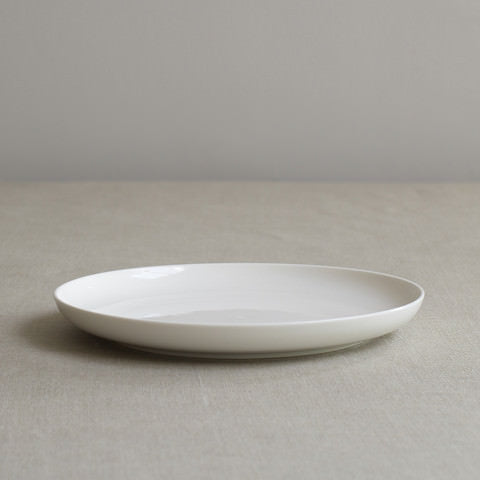 Simple White Bone China Side Plate by Sue Pryke