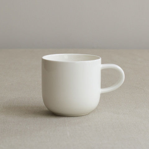 Simple White Bone China Mug by Sue Pryke