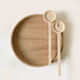 Big wooden salad bowl hand designed and made in UK by Tanti Design on Oates & Co.