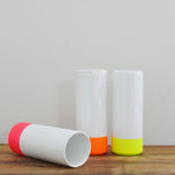 Neon Dipped Cylinder Vase Handmade by Taz Pollard on Oates & Co.