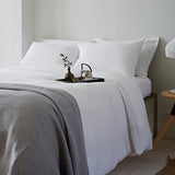 Classic White Linen Housewife Pillowcase by The Linen Works on Oates & Co.