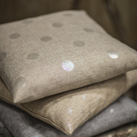 Silver Spot Cushion Natural by Tutti & Co.