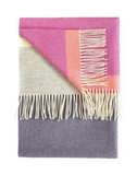 Eloise Grape soft woolen blanket throw in purple, pink and grey by Twig on Oates & Co.
