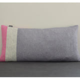 Purple, pink and grey Eloise Grape Wool Cushion by Twig on Oates & Co.