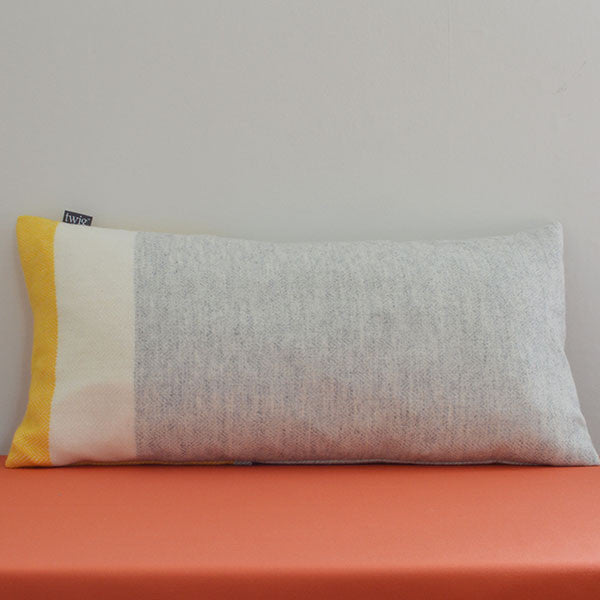 Sulphur lambswool cushion by Twig on Oates & Co.