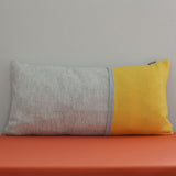 Yellow and grey woolen Sulphur cushion by Twig on Oates & Co.