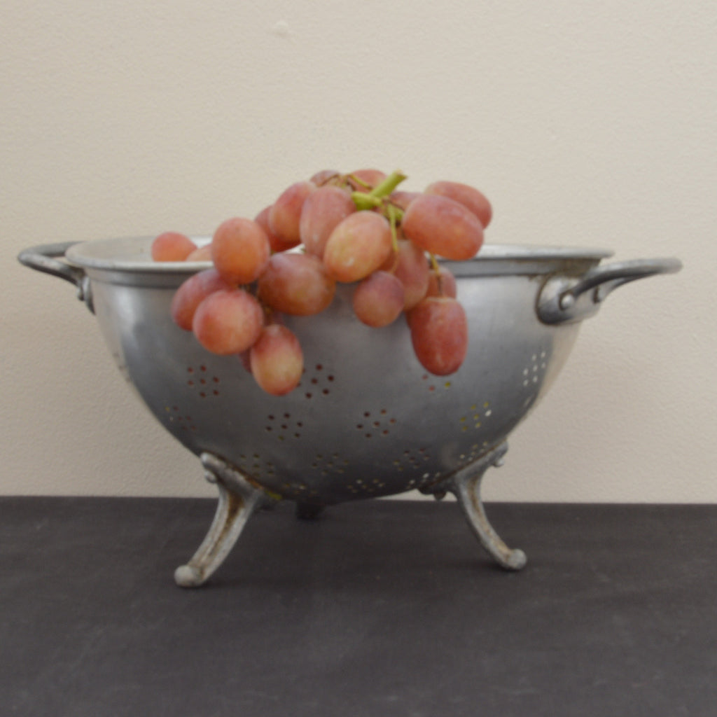 Vintage French Metal Colander on Oates & Co.