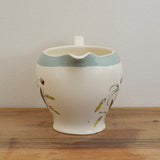 Alfred Meakin Hedgerow Milk Jug in Ironstone with pastel blue banding on Oates & Co.