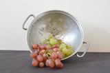 Vintage French Metal Colander for display on Oates & Co.