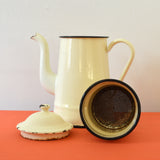 Vintage Cafetiere Coffee Pot in Cream from France on Oates & Co.