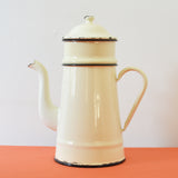Vintage French Coffee Pot in Enamel on Oates & Co.