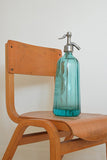 Vintage French Turquoise Blue Glass Soda Syphon